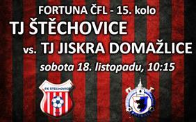 TJ Štěchovice - TJ Jiskra Domažlice (Fortuna ČFL, 15. kolo)