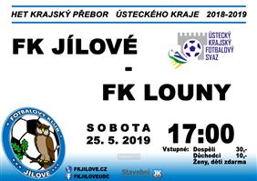 FK Jílové - FK SEKO Louny (Krajský přebor - Ústecký kraj, 27. kolo)