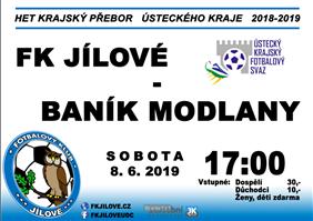FK Jílové - SK Baník Modlany (Krajský přebor - Ústecký kraj, 29. kolo)