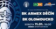 BK ARMEX Děčín vs. BK Olomoucko