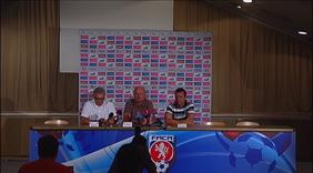 Tisková konference s Michalem Bílkem po utkání s Maďarskem