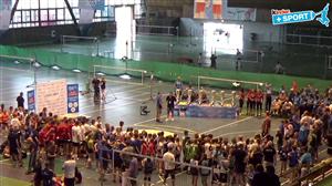 Ceremonia medalowa (Finał Turnieju Kinder + Sport w mini siatkówce Zabrze 2017)